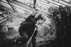Черно-белое изображение пар Стоковые Фото