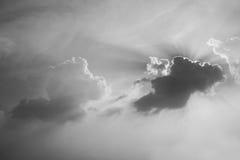 Черно-белое небо Стоковая Фотография RF