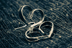 Черно-белое лоснистое сердце влюбленности стоковое фото