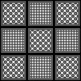 Черно-белое keffiyeh для людей templat вектора Ближний Востока Стоковые Изображения