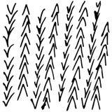Черно-белой абстрактной текстура нарисованная рукой Стоковое Фото