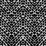 Черно-белой покрашенная рукой картина зигзага Стоковые Изображения RF