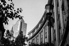 Черно-белые винтажные здания Стоковое Изображение RF