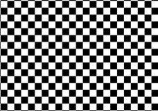 Черно-белые гонки и checkered картина Стоковая Фотография