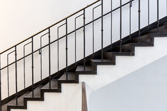 Черно-белые лестницы Стоковое Изображение RF