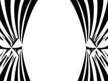 Черно-белые занавесы на белой предпосылке вектор бесплатная иллюстрация