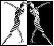 Черно-белые диаграммы женщин Стоковые Изображения