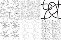 Черно-белые орнаменты Абстрактные линии и кривые делает по образцу безшовное бесплатная иллюстрация