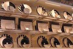 Черно-белые плиты Стоковое Изображение RF