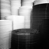 Черно-белые плиты Стоковая Фотография RF
