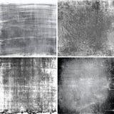 Черно-белые текстуры grunge Стоковые Изображения