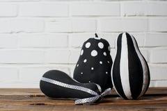 Черно-белые тыквы Стоковое фото RF