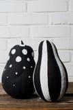 Черно-белые тыквы Стоковое Фото