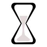 Черно-белые часы на белой предпосылке Стоковое Фото