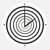 Черно-белые часы на белой предпосылке Стоковое Изображение