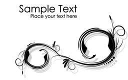 Черно-белый абстрактный волнистый вектор предпосылки ветвей Стоковое Изображение