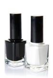 Черно-белый лак для ногтей Стоковое Изображение