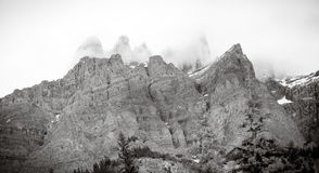 Черно-белый ландшафт Banff Стоковое фото RF