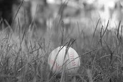 Черно-белый бейсбол Стоковая Фотография