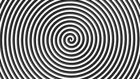 Черно-белый гипнотический круг Стоковые Фотографии RF