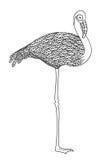 Черно-белый декоративный фламинго Стоковая Фотография