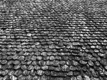 Черно-белый деревянной картины крыши Стоковое Изображение RF