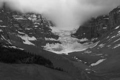 Черно-белый ледник яшмы Стоковая Фотография