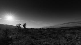 Черно-белый заход солнца - ландшафт Kirkwood Стоковое фото RF