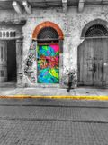 Черно-белый и цвет Панамы Стоковые Изображения RF