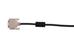 Черно-белый кабель DVI Стоковые Изображения