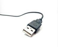 Черно-белый кабель usb Стоковая Фотография