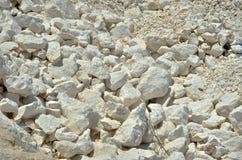 Черно-белый камень, известняк на каменном карьере 3 Стоковая Фотография RF