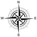 Черно-белый компас растр Стоковое Изображение RF