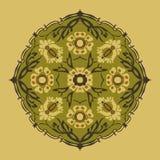 Черно-белый круглый изолированный конспект цветка Стоковое фото RF
