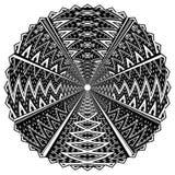 Черно-белый круглый орнамент Стоковая Фотография RF