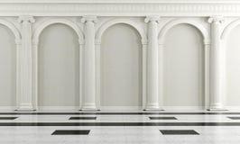 Черно-белый классицистический интерьер Стоковые Фото