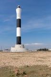 Черно-белый новый маяк Dungeness Стоковые Изображения RF