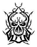 Черно-белый орнаментальный череп Стоковые Изображения