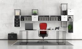 Черно-белый офис бесплатная иллюстрация