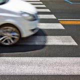 Черно-белый пешеходный переход Стоковая Фотография