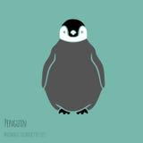 Черно-белый пингвин иллюстрация вектора