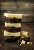 Черно-белый пористый шоколад Стоковое фото RF
