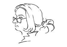 Черно-белый портрет женщины Стоковые Фото