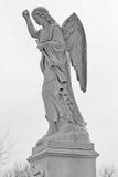 Черно-белый статуи i трубы удерживания Анджела Стоковые Изображения