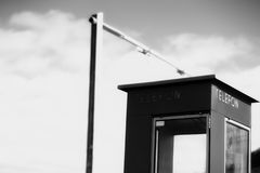 Черно-белый фон переговорной будки Норвегии Стоковые Фотографии RF