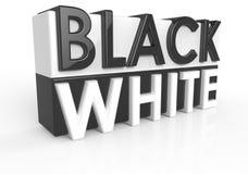 Черно-белый Стоковое Изображение
