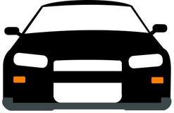 Черно-белый 2d автомобиль Стоковая Фотография