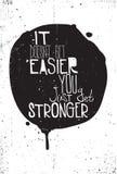 Черно-белый grungy плакат с цитатой Стоковые Изображения RF