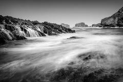 Черно-белый seascape Стоковое Изображение