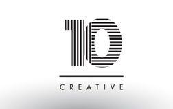 10 черно-белых линий дизайн логотипа номера Стоковое Изображение RF